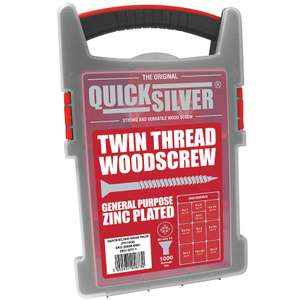 Quicksilver PZ Double-Countersunk Woodscrews Trade Case Grab Pack 1000 Pcs - £9.99 (Free collection / £5 Delivery) @ Screwfix