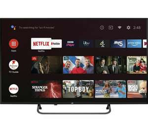 """JVC LT-43CA890 Android TV 43"""" Smart 4K Ultra HD HDR LED TV £246.05 with code at Currys on eBay"""
