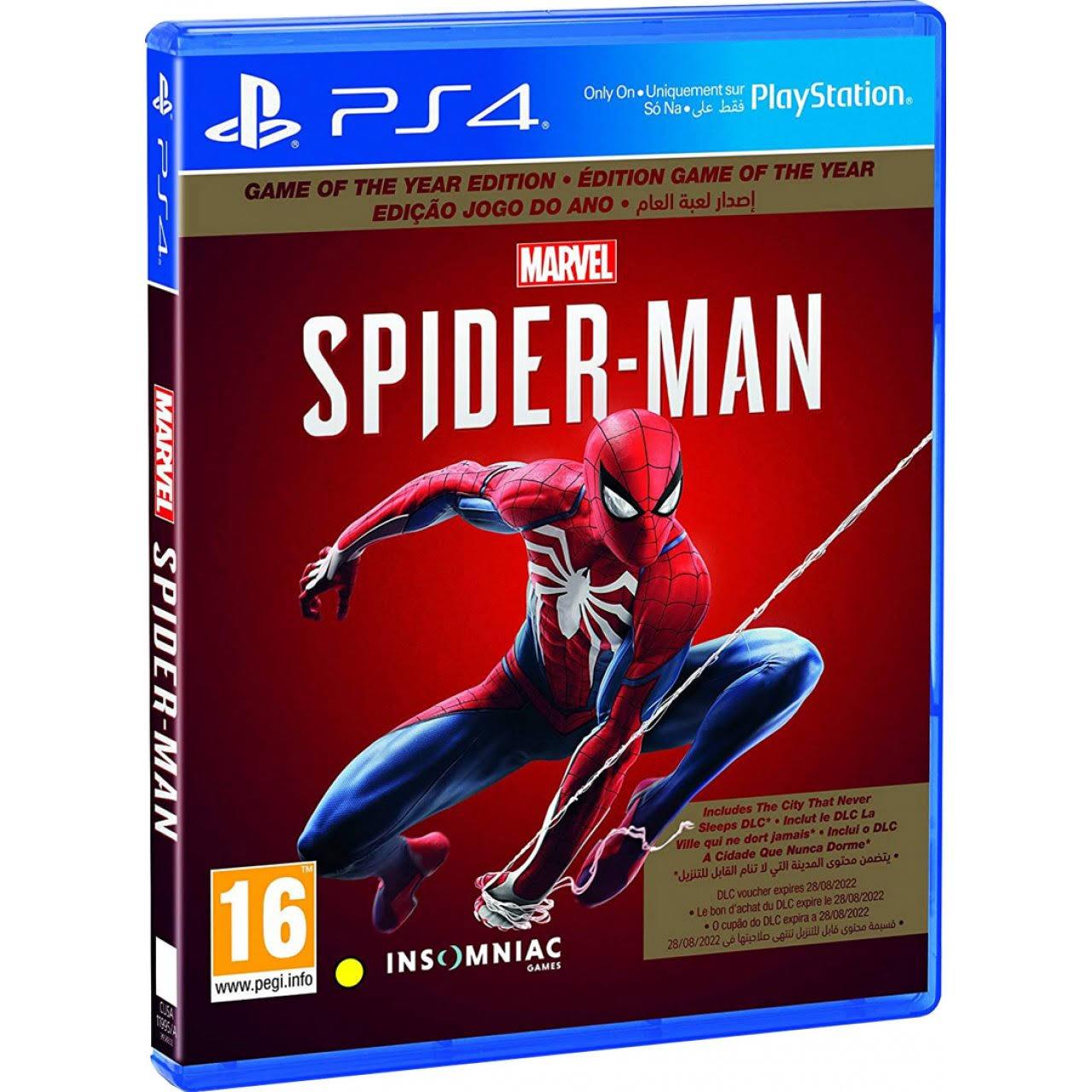 Marvels Spiderman GOTY Edition PS4 £20 (UK Mainland) @ AO