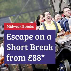 Alton Towers Resort Short Family Midweek Break From Just £88 / £22pp in a Stargazing Pod at Alton Towers Holidays - Theme park tickets extra