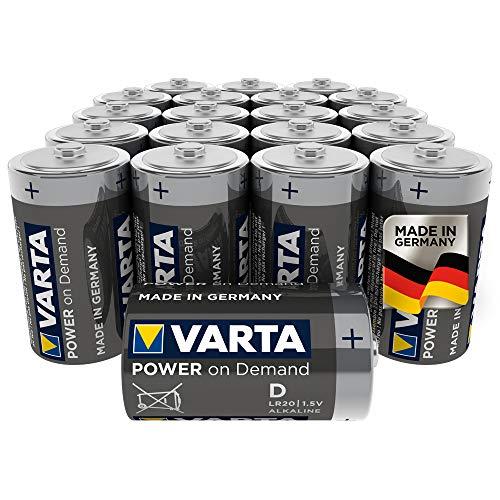 VARTA Power on Demand D Mono Batteries - 20 Pack £11 Prime (+£4.49 Non-Prime) @ Amazon