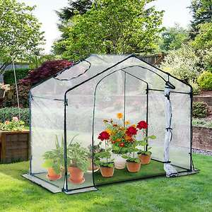 1.8M Portable Walk-in PVC Greenhouse with Steel Frame £35.09 delivered, using code @ eBay / Outsunny