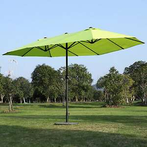 Canopy Double-sided Crank Sun Shade Shelter / Parasol 4.6M - Green (Base required) £71.99 delivered @ eBay / Outsunny