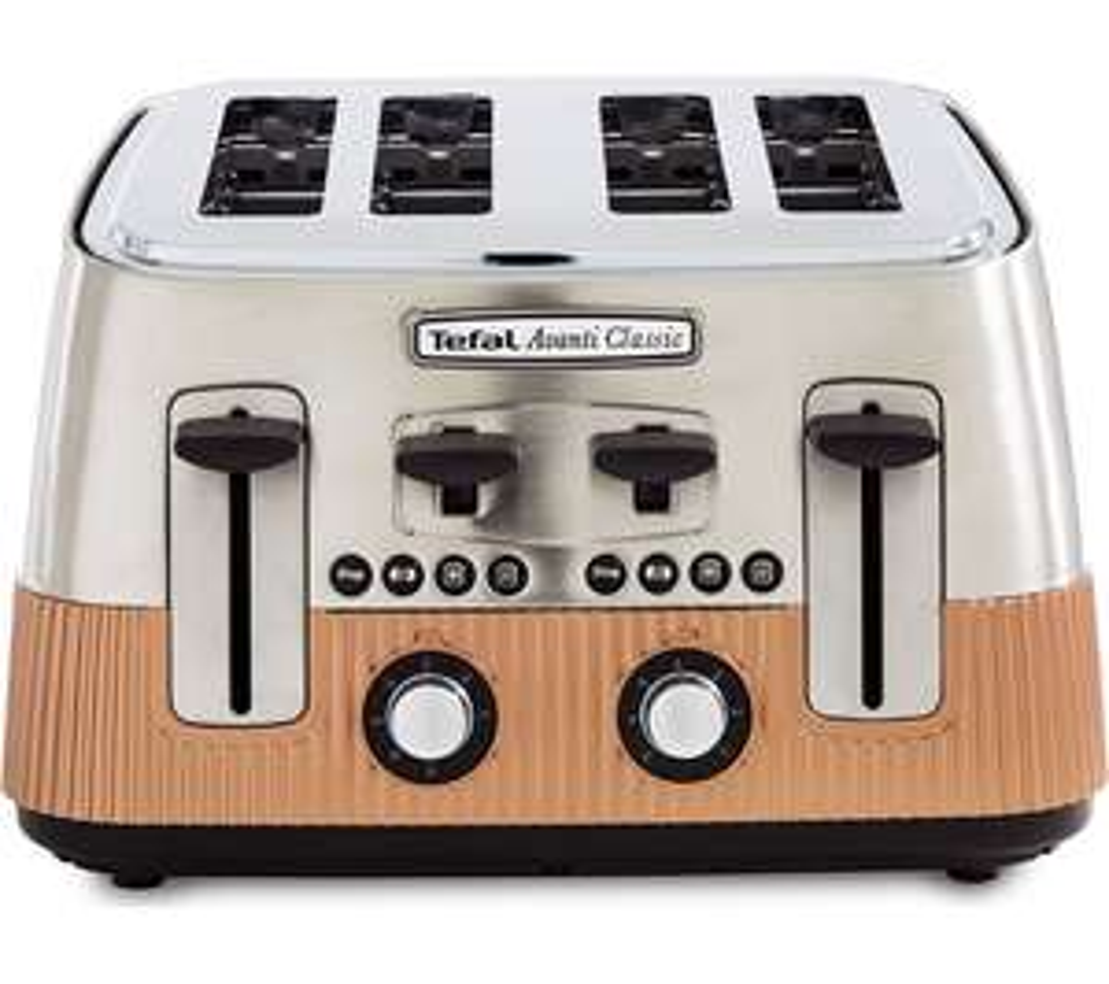 TEFAL Avanti Classic TT780F40 4-Slice Toaster - Copper £49.99 at Currys PC World