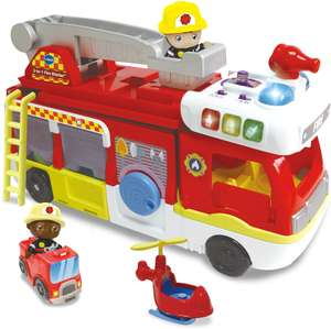 VTech Toot-Toot Friends 2-in-1 Fire Station, Toy Kids Car with Sounds and Phrases £20.99 @ Amazon