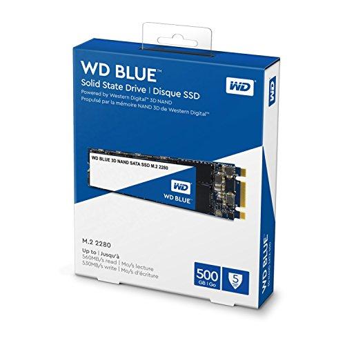 Western Digital WDS500G2B0B WD Blue 3D NAND Internal SSD M.2 SATA, 500 GB (560MB/s Read / 530MB/s Write)- £46.49 Delivered @ Amazon