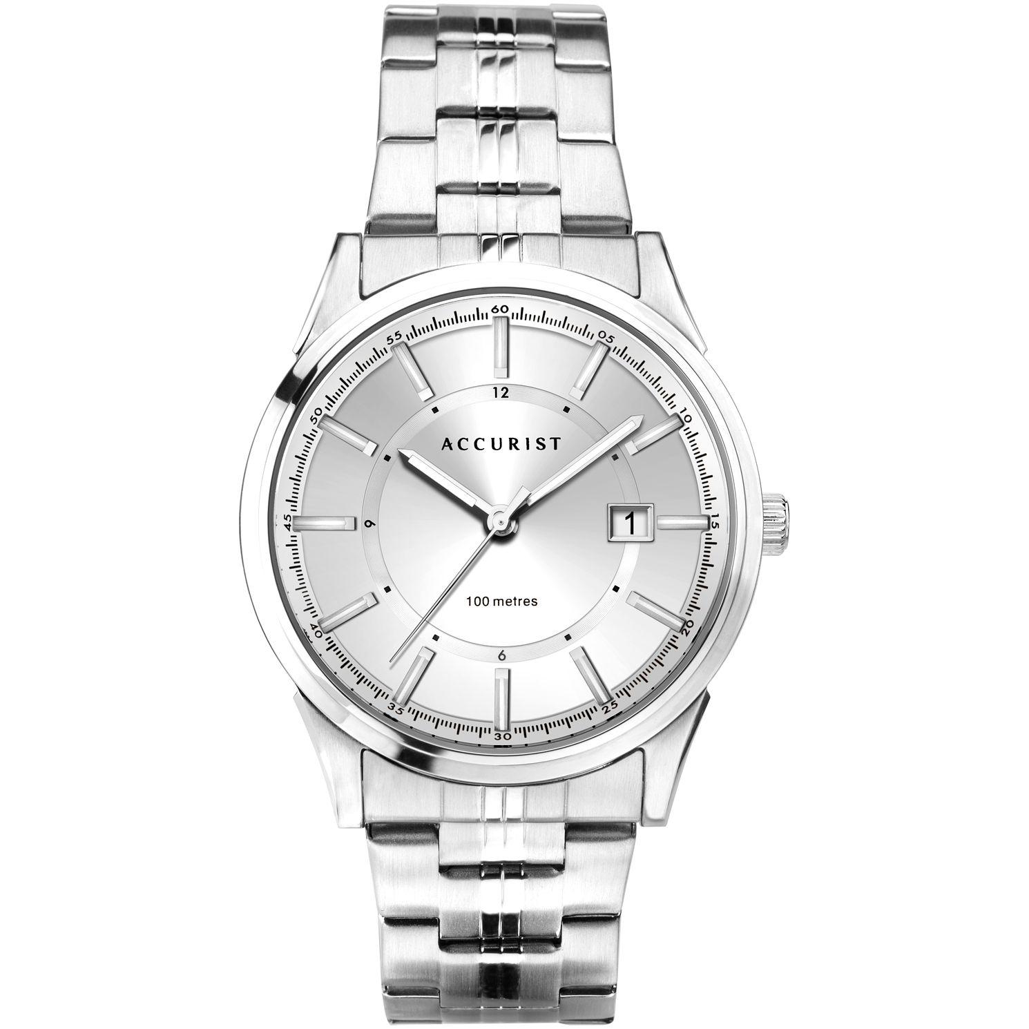 Accurist Date Men's Stainless Steel Bracelet Watch £34.98 delivered @ H Samuel