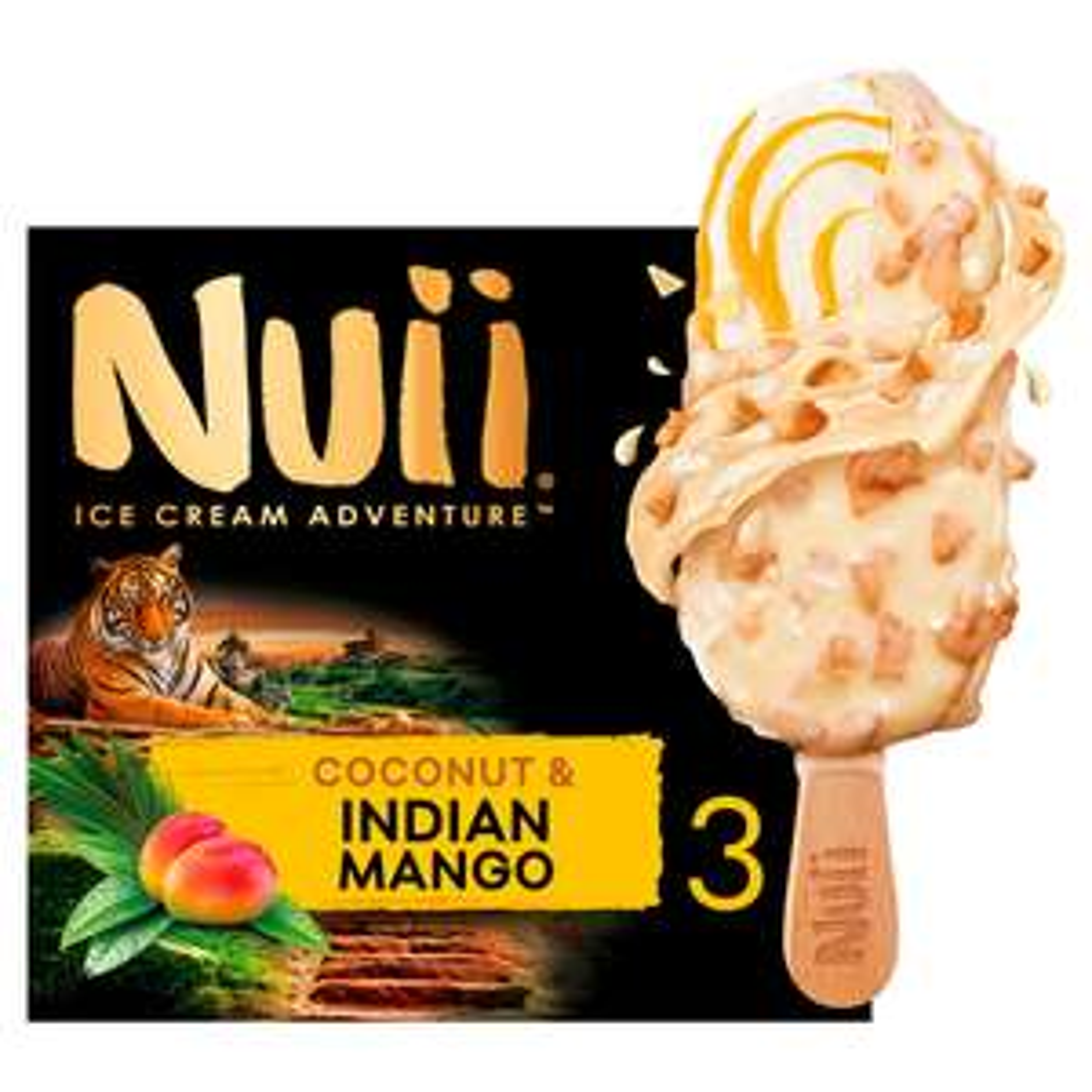 Nuii Ice Cream Aventure Coconut & Indian Mango 3x90ml £2 (Minimum Basket / Delivery Fee Applies) @ Sainsbury's