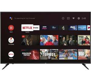 "JVC Android TV 65"" Smart 4K Ultra HD HDR LED TV with Google Assistant £449 Currys PC World"