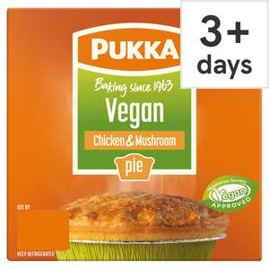 Pukka Vegan Chicken & Mushroom Pie £1.50 at Tesco