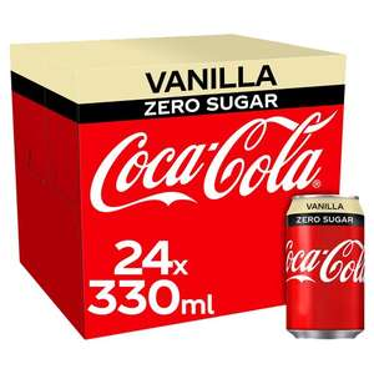 Coke Zero vanilla 2 x 24 pack - 48 cans £7 Farmfoods sutton
