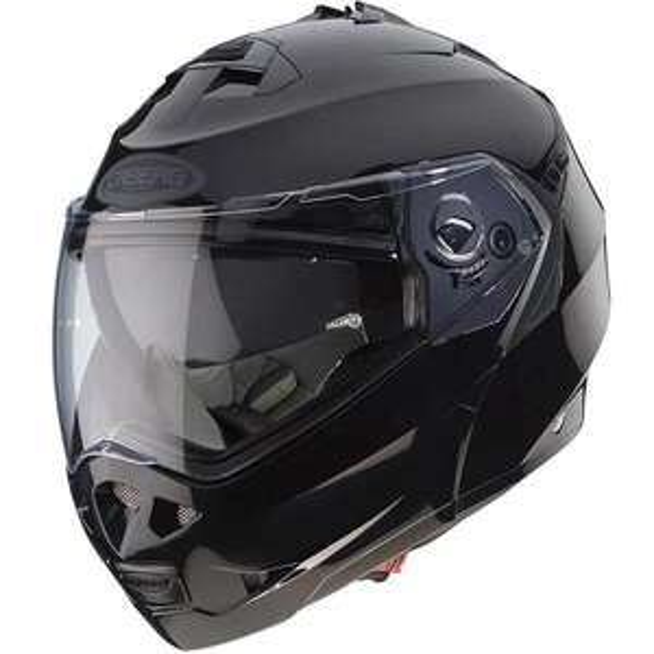 Caberg Duke II - Smart Black : Dual Homologated Flip-up Motorcycle Helmet With Drop Down Internal Sun Visor £111.98 at SportsBikeShop