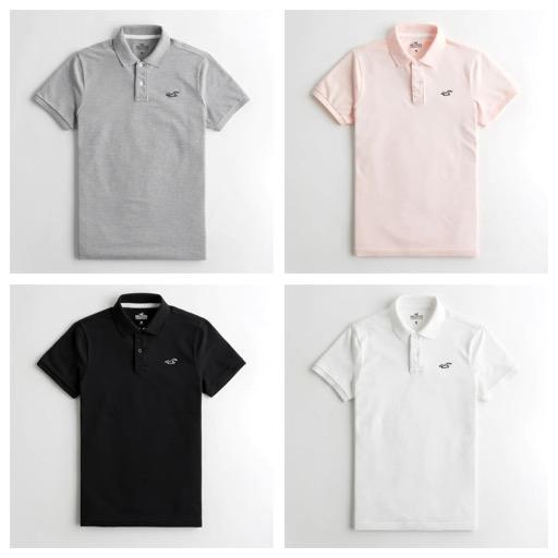 Hollister Stretch Polo Shirts (4 Colours / XXS - XL) £8.80 & Free Delivery via App @ Hollister