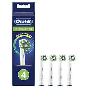 Oral-B CrossAction Toothbrush Head with CleanMaximiser Tech Pack of 4 - £10 Prime / £9.50 S&S / £14.49 Non Prime @ Amazon