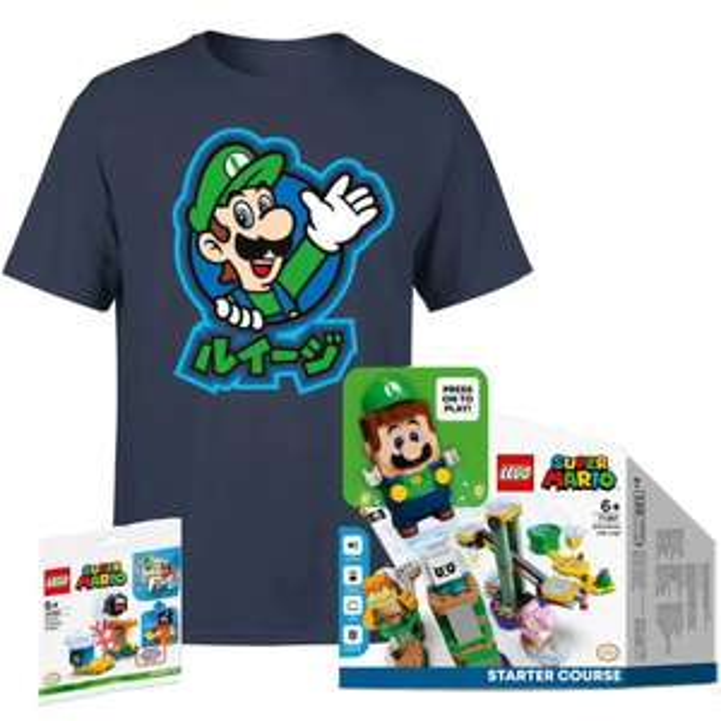 Pre-order LEGO Super Mario Luigi Adventures Starter Course with free poly bag & T shirt- £49.99 + £1.99 Delivery @ Zavvi