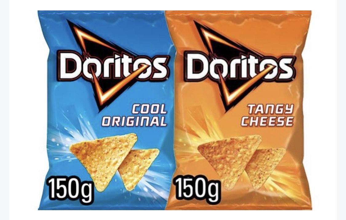 150g Doritos Cool Original / Tangy Cheese Share Bags 69p EACH@ FarmFoods