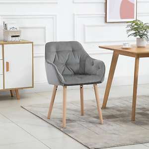Modern Tufted Dining Chair Fabric Upholstered Leisure Chair - £65.69 Using Code @ eBay / mhstarukltd