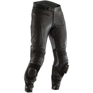 RST GT CE Leather motorcycle Jeans - Black / Black - £129.99 SportBikeShop