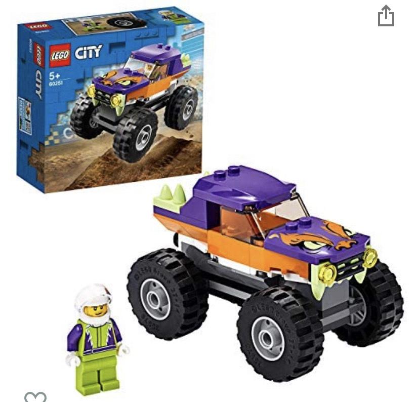 LEGO City 60251 GreatVehiclesMonsterTruckToyforKids5+YearsOld £5.80 prime /+£4.49 nonPrime @ Amazon