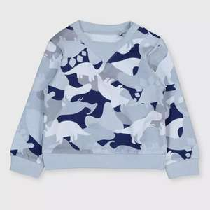 Blue Dinosaur Camouflage Sweatshirt now £3.50 + Free click & collect / £3.95 Delivery @ Argos