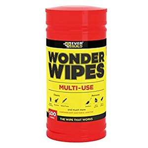 Everbuild Wonder Wipes Multi-Use Cleaning Wipes, 100 Wipes £3.67 Prime / £8.16 Non Prime @ Amazon