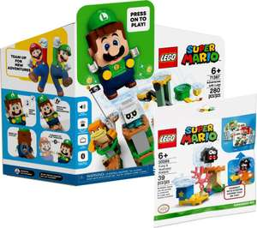 LEGO Super Mario 71387 Adventures with Luigi + free 30389 Fuzzy & Mushroom Platform - £49.99 pre-ordered @ Smyths Toys