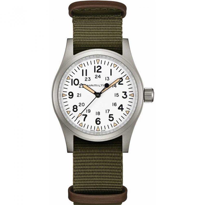 Hamilton Gent's Khaki Field Mechanical NATO Watch - £297 @ Francis & Gaye