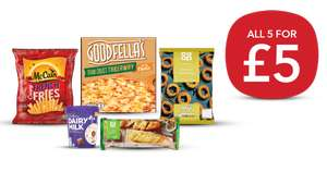 Goodfellas Pizza/ Onion Rings/ French Fries/ Baguettes & Dairy Milk IceCream Tub £5 or £4.50 NUS (instore / delivery selected stores@ Co-op