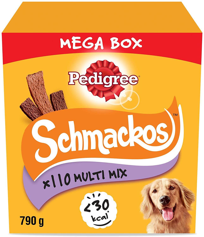 Pedigree Schmackos Mega - 110 Strips 790g £4.95 (£4.49 p&p np) 25% voucher and 10% s&s £3.46 @ Amazon