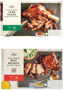 Morrisons Slow Cooked Lamb Shank In Red Wine Gravy / Morrisons Slow Cooked Beef Brisket In Gravy - £2 @ Morrisons