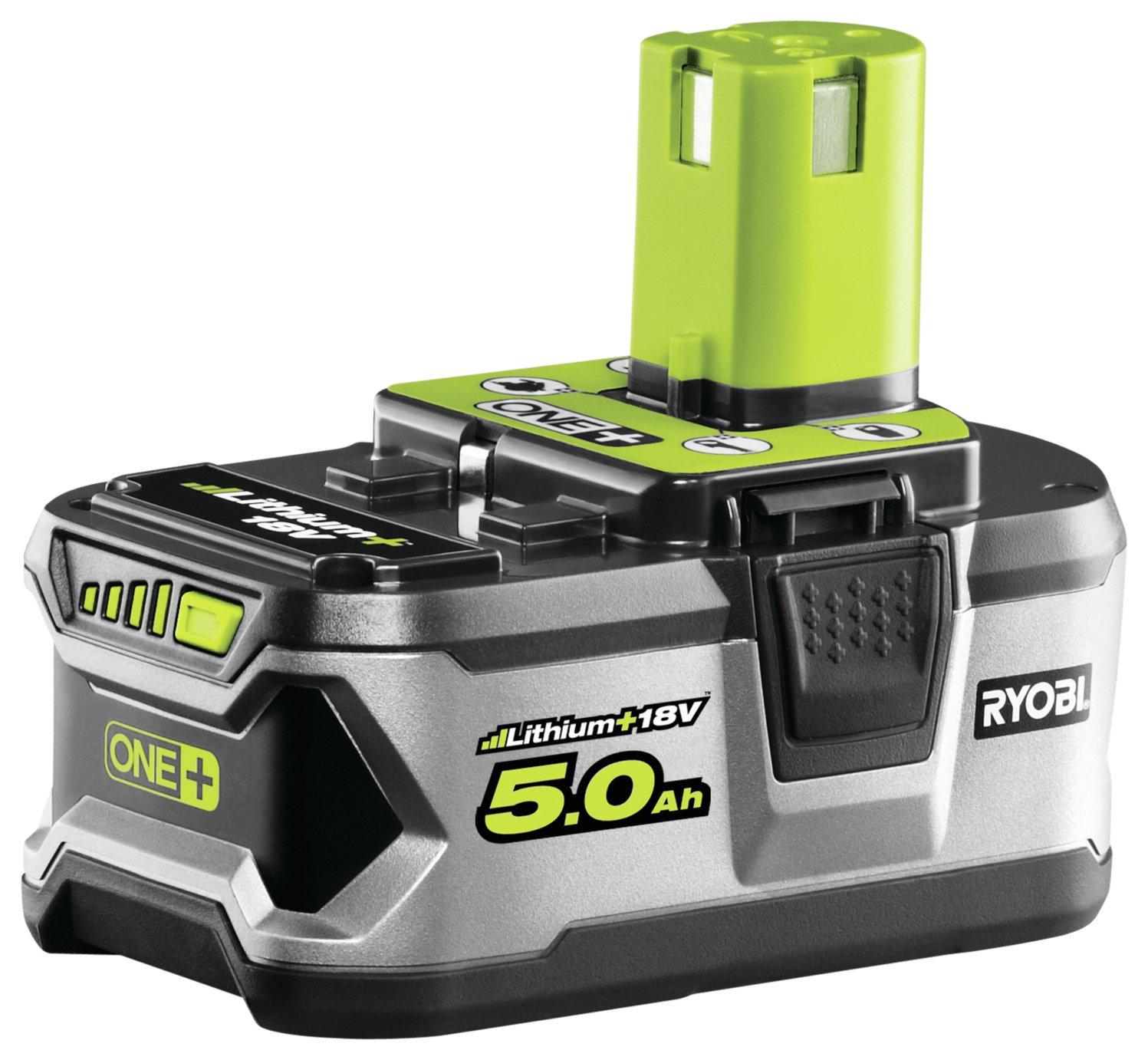 Ryobi RB18L50 ONE+ 5.0Ah Battery - 18V £70 @ Argos - free Click & Collect