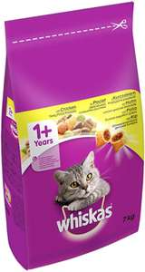 Whiskas 1+ Dry Cat Food chicken 7kg) £13.97 @ Amazon ( £4.49 p&p non prime) 20% voucher and 10% s&s £9.78