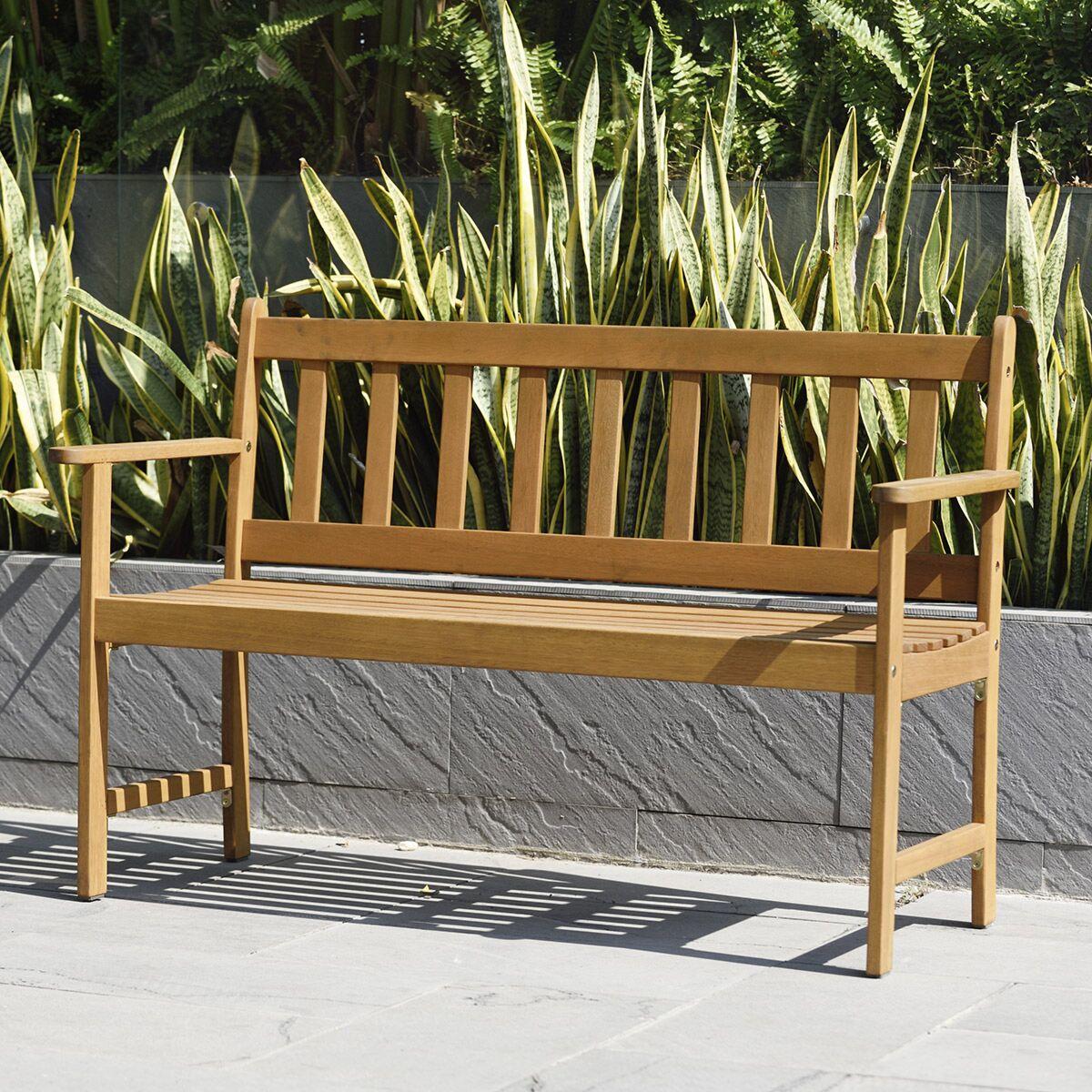 Lamu 2 Seater Eucalyptus FSC Wooden Garden Bench £84.99 Click & Collect, using code @ Robert Dyas