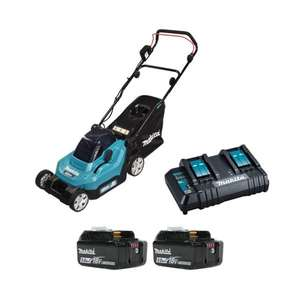 Makita DLM382CT2 Twin 18v LXT Cordless Lawnmower 38cm (Kit) + Free gift from Makita on redemption - £339 @ Radmore & Tucker