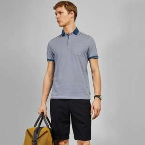 Selected Men's Ted Baker Short Sleeve Polo Shirts now £31.20 using code + Free click & collect @ Ted Baker
