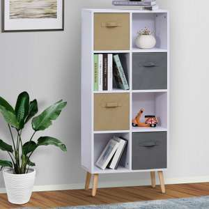 Freestanding 8 Cube Storage Cabinet Unit With 4 Drawers - £46.99 Delivered @ eBay / 2011homcom