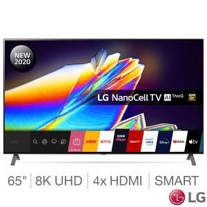 "LG 65NANO956NA (2020) LED HDR NanoCell 8K Ultra HD Smart TV, 65"" Freeview/Freesat HD & Dolby Atmos + 5 yr warranty - £1199.98 @ Costco"