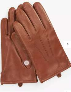 John Lewis & Partners fleece lined tan leather gloves £14 (£3.50 delivery) @ John Lewis & Partners