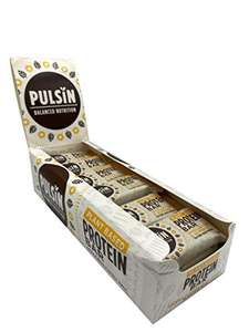 Pulsin Healthy Snack Natural Plant Based Vanilla Choc Chip Protein Bar 18x50g - £9.36 prime / £13.85 nonPrime Sold by Amazon Warehouse