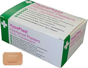 Safety First Aid Group HypaPlast Pink Washproof Plasters, 7.2 x 5 cm (Pack of 100) Sterile Hypoallergenic - £2.42 + £4.49 Non Prime @ Amazon