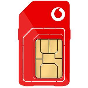 Vodafone 5G Sim Only - Unlimited Minutes and Texts, 100GB data for £16pm (12 month - £55 AUTO Cashback - Effective £11.40pm) @ Mobiles.co.uk