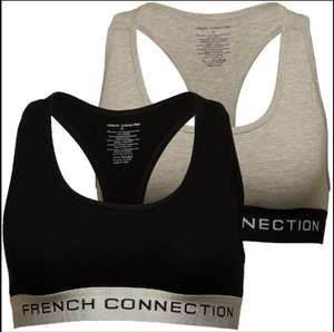 Women's French Connection French Connection Two Pack Crop Top Bralette Now £8.99 - Delivery is £4.99 or Free with delivery pass @ M&M Direct