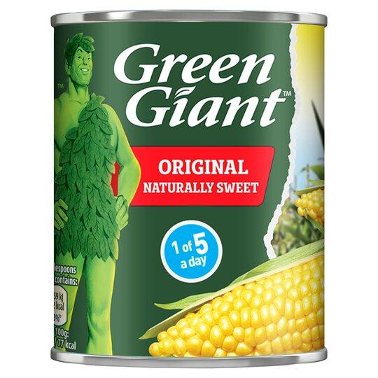 Green Giant Original Sweet Corn 198G 70p with clubcard @ Tesco