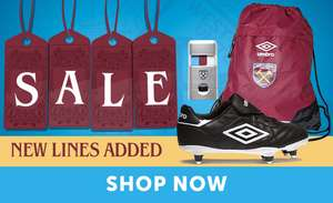 Up to 75% off @ West Ham United Store