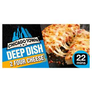 Chicago Town 2 Deep Dish Pizzas (Four Cheese / Pepperoni / Mega Meaty / Ham & Pineapple) £1 @ Iceland