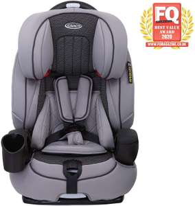 Graco Nautilus Harnessed Booster Car Seat, Group 1/2/3 (9 Months to 12 Years Approx, 9-36 kg), Steeple Grey £79.99 delivered @ Amazon