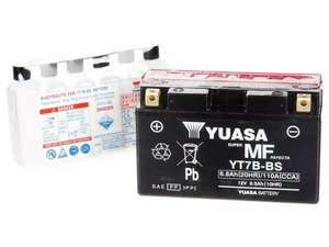 Yuasa Motorcycle Battery (e.g. YT7B-BS / 53030 12V YuMicron DIN / YB12AL-A2 Yumicron) - £10 each (Free collection) @ Halfords