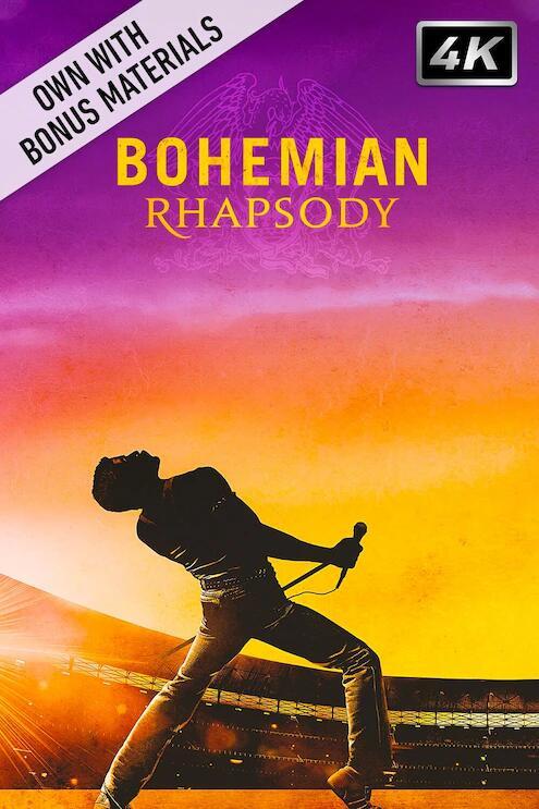 Bohemian Rhapsody (4K + Extras) - £4.99 to buy @ Chili