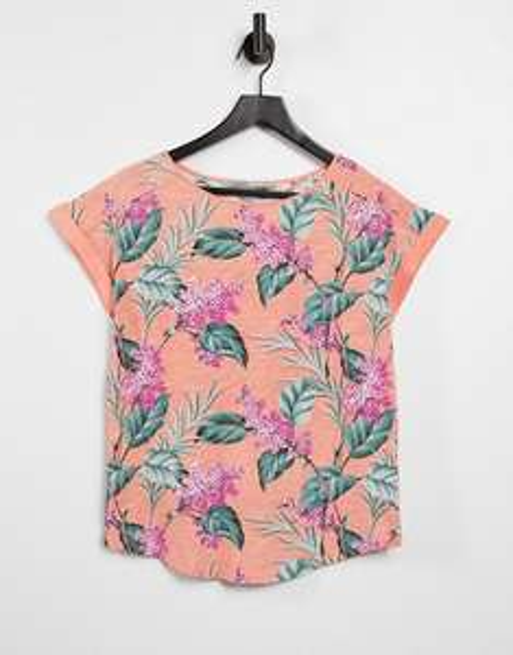 Oasis floral top in orange £7 at ASOS (£3 delivery)
