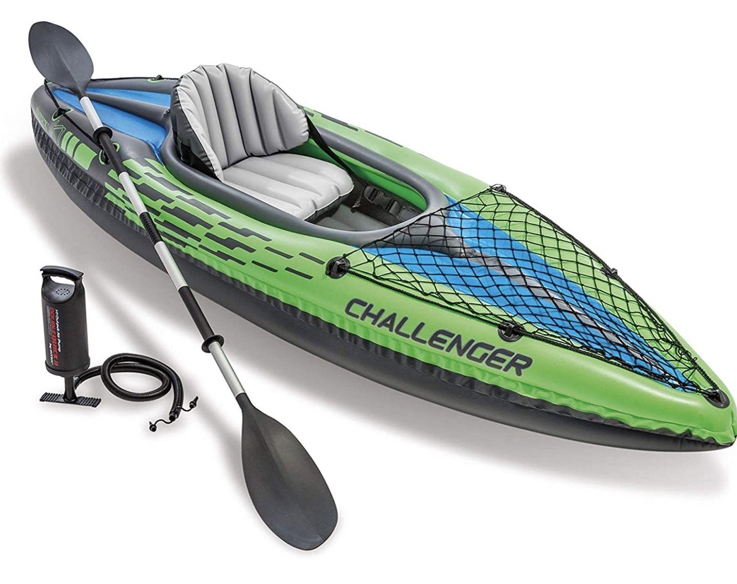 Intex Challenger Kayak, Man Inflatable Canoe with Aluminum Oars and Hand Pump - £92.16 (UK Mainland) Sold By Amazon EU @ Amazon